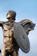 Monument of alexander the great in prilep, macedonia Stock Photos