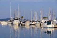 Port of Cavalaire-sur-Mer in France - stock photo