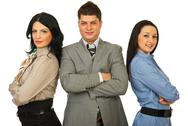 Stock Photo of Staff of three business people