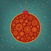 Stock Illustration of Beautiful Christmas ball illustration. EPS 8