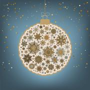 Сhristmas background with christmas ball. EPS 8 - stock illustration