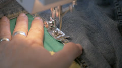 Sewing Machine Slow Motion Stock Footage