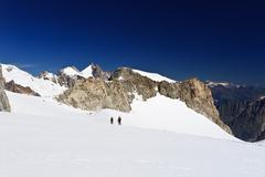 Mont Blanc massif - Mer de glace glacier - stock photo