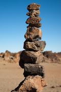 Balancing Stone Pile Stock Photos