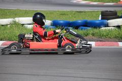 go-cart race - stock photo