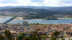 Miradouro de Santa Luzia, Viana do Castelo Stock Footage