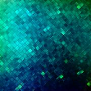 Blue glitters on a soft blurred background. EPS 10 - stock illustration