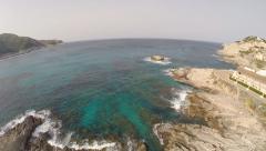 Mediterranean Coastline of Cala Rajada - Aerial Flight, Mallorca Stock Footage