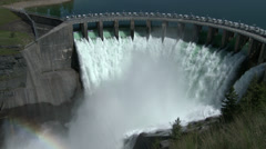Dam, Kerr Dam, Hydroelectric Dam, River, 4K, UHD Stock Footage