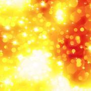 Stock Illustration of Glittery orange Christmas background. EPS 8
