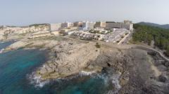 The Coasts of Mallorca - Aerial Flight, Mallorca Stock Footage