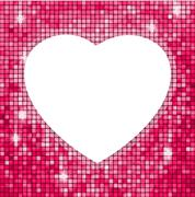 Pink frame in the shape of heart. EPS 8 - stock illustration