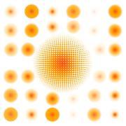 spotted flash (vector design element). EPS 10 - stock illustration