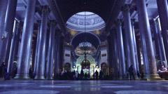 Inside Kazan Cathedral (Kazanskiy Sobor). Saint Petersburg, Russia. Stock Footage