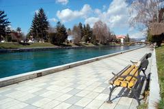 River drim,lake ohrid,macedonia Stock Photos