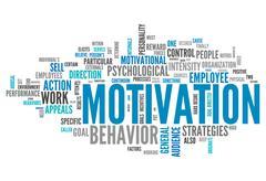 Stock Illustration of word cloud motivation
