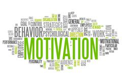 Stock Illustration of word cloud motivation
