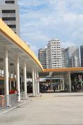Bus terminal in Hong Kong. Kuvituskuvat
