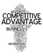 Word cloud competitive advantage Stock Illustration