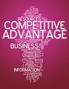 word cloud competitive advantage - stock illustration