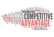Stock Illustration of word cloud competitive advantage