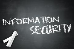 blackboard information security - stock illustration