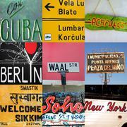 World travel signs Stock Photos