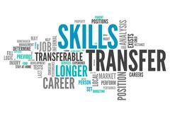 Word cloud skills transfer Stock Illustration