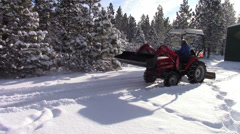 Plowing Snow  Stock Footage