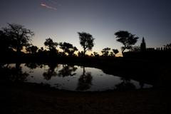 Sunrise in the Dogons Land Stock Photos