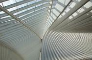 Liege-Guillemins railway Stock Photos