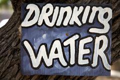 Drinking water signboard Stock Photos
