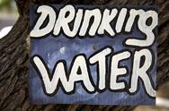 Drinking water signboard Stock Photos