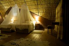 Guest room in a Lodge in Botswana - stock photo