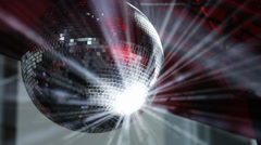 Beautiful rotating disco ball Stock Footage