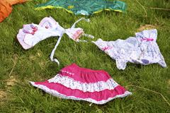 Clothes on the grass - stock photo