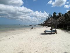 sandy beach in Island Mafia - stock photo