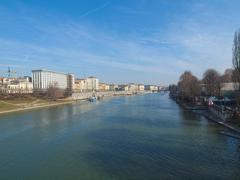 River Po, Turin, Italy - stock photo