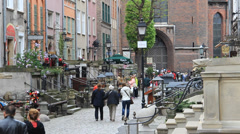 Gdansk, Poland. Mariacka street in the old town. 2 Stock Footage