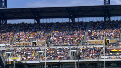 4K Fans at PNC Park in Pittsburgh 4396 Stock Footage