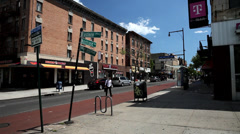 Corner of Eastern Parkway and Nostrand Avenue Stock Footage