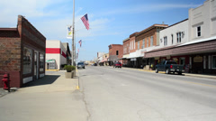 Small Town Main Street USA, noon Stock Footage