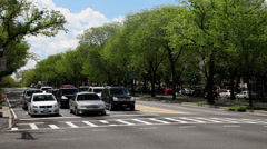 Eastern Parkway Traffic in Brooklyn Stock Footage