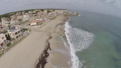 Living directly at the Mediterranean Coastline  - Aerial Flight, Mallorca Stock Footage