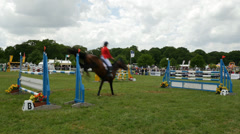 Houghton International Horse Trials, Norfolk, England, United Kingdom Stock Footage