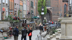 Gdansk, Poland. Mariacka street in the old town. 3 Stock Footage