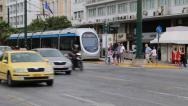 Stock Video Footage of Road traffic near Parliament and Syntagma Square in Athens, Greece