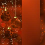 Background with stars and Christmas balls. EPS 8 Stock Illustration