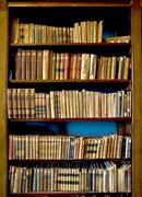 arequipa, peru, march 9 - books in the ricoleta library on march 9, 2011 in a - stock photo