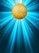 Abstract disco party lights background. EPS 8 - stock illustration
